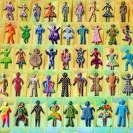 Multicultural Diversity Concept Figurines Digital Painting