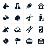 Pet Grooming and Boarding Icons