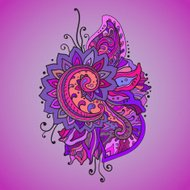 Traditional vector oriental floral ornament with a lot of detail