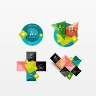 Set of modern geometric infographic web layouts