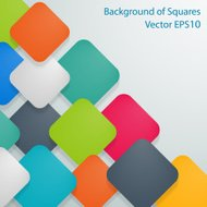 Colored squares with rounded corners and shadow on gray backgrou