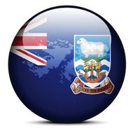 Map on flag button of Falkland Islands