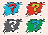 Set of Question Mark Avatars