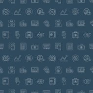 Business finance line icon pattern set