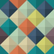 Seamless colorful Abstract background made of squares