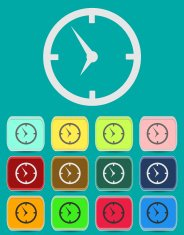 Clock face - Vector icon isolated
