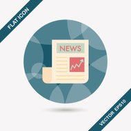 financial news flat icon with long shadow,eps10