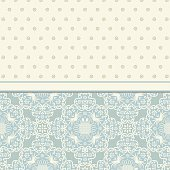 Vector vintage card with floral ornament design. Damask  Luxury