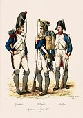 French Army Grenadier Voltigeur and Fusilier Infantry of the Lin