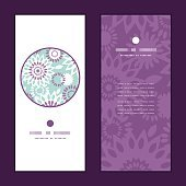 Vector purple and blue floral abstract pattern