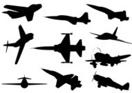 Planes silhouettes