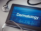 dermatologie slovo displej na tabletu