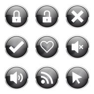 SEO Internet Sign Black Vector Button Icon Design Set 4