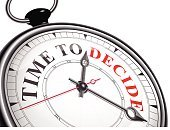 time to decide concept clock