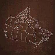 Canada map on grey dark rusty metal background