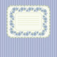 Card with floral  frame