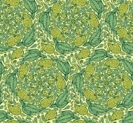Seamless paisley and floral pattern