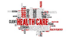 Word Cloud - Health Care Issues - Isolated