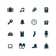 set of accessories icons