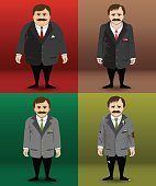 Human character in different financial situations.