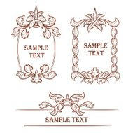 Hand drawn vintage frames and design elements