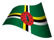 Waving flag of Dominica