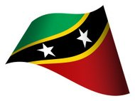Waving flag of Saint Kitts and Nevis