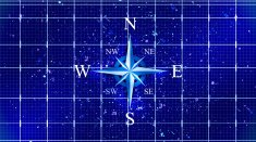 Compass rose or wind rose