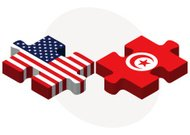 USA and Tunisia Flags in puzzle