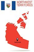Canada Province : Northwest Territories map and Flag
