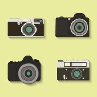 Set of vector camera icons.