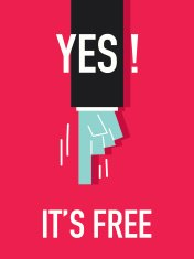 Words YES IT'S FREE