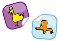 Dog and Chicken sticker
