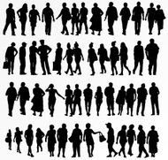 collection de silhouettes de personnes