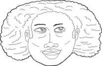 Illustration of Happy African Lady