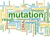 mutation wordcloud concept illustration