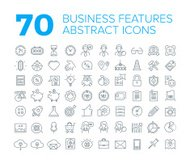 70 Thin Line Universal Business Icons