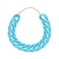 Chunky chain necklace or bracelet - turquoise color
