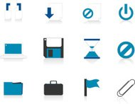 Internet Icons Series 4 - File management, Blue (Aqua)