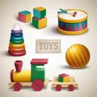 exquisite colorful toys set