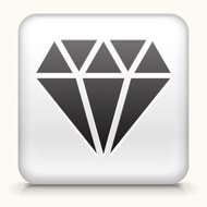 White Square Button with Diamond Icon