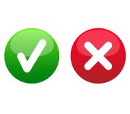 Tick Cross Yes No Right Wrong accept decline Icon Button