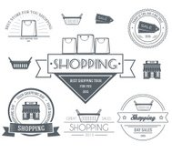Shopping set label template of emblem element for your product