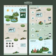 nature one page website design template