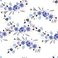 Vintage watercolor pattern with small flowers
