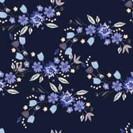 Vintage watercolor seamless with small flowers