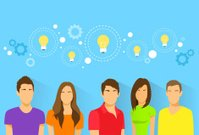 Creative Students Team Idea Diverse Group of People Icon Avatar