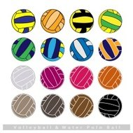 Collection of Volleyball Balls on White Background