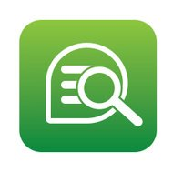 Searching icon design on green button background,vector