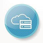 Data of cloud on blue button background,clean vector
